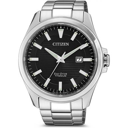 CITIZEN Herrenuhr, Eco-Drive Solar, Super Titanium, schwarz_20577