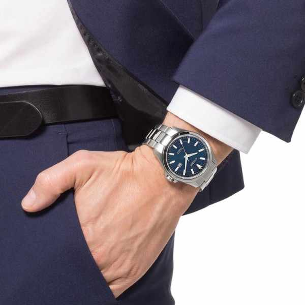 CITIZEN Herrenuhr, Eco-Drive Solar, Super Titanium, blau_20580