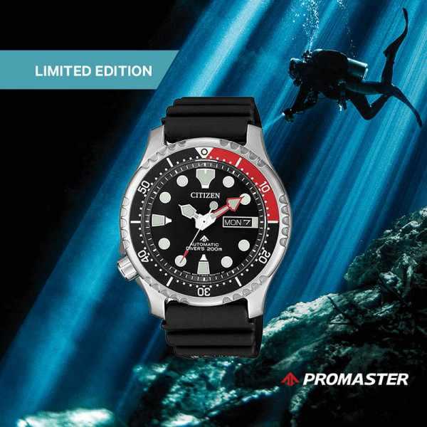 CITIZEN Promaster Sea, Diver Automatik Taucheruhr Edelstahl, schwarz-rot_20869