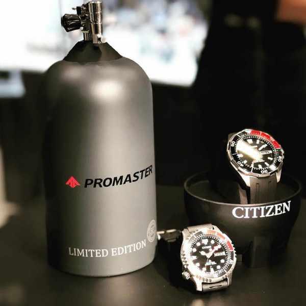 CITIZEN Promaster Sea, Diver Automatik Taucheruhr Edelstahl, schwarz-rot_20870