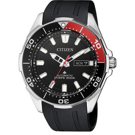 CITIZEN Promaster Sea, Diver Automatik Taucheruhr Titan schwarz-rot_20887