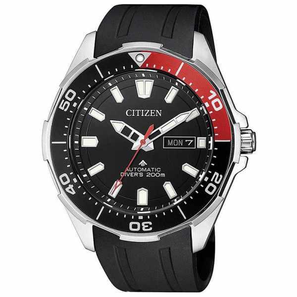 CITIZEN Promaster Sea, Diver Automatik Taucheruhr Titan schwarz-rot_20888