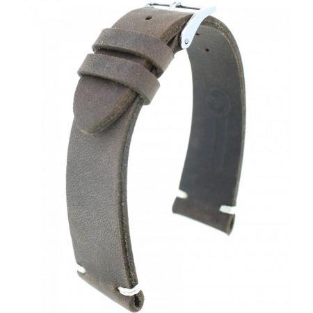 FANO Vintage Rindsleder Uhrenband 22mm, dunkelbraun_20925