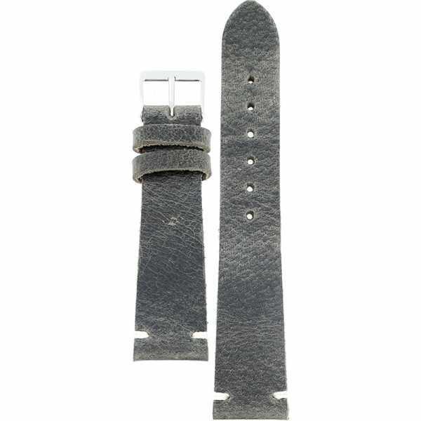 FANO Vintage Rindsleder Uhrenband 22mm, grau_20944