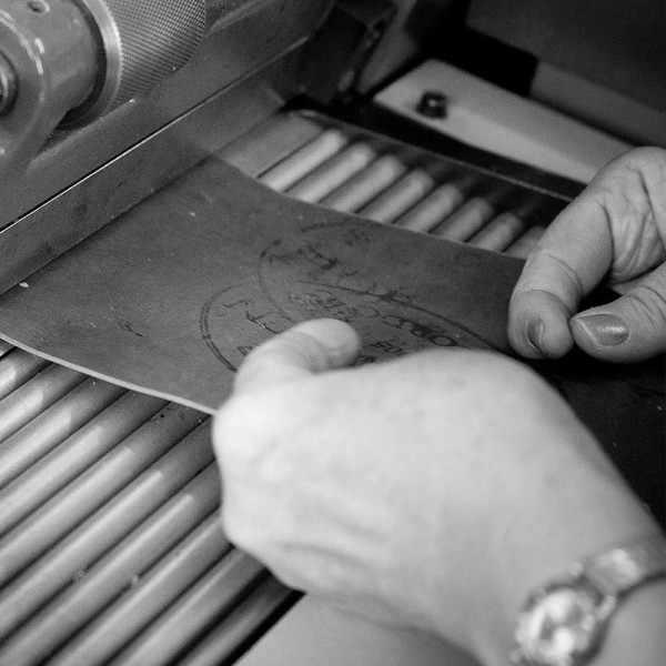FANO Vintage Rindsleder Uhrenband 22mm, grau_20945