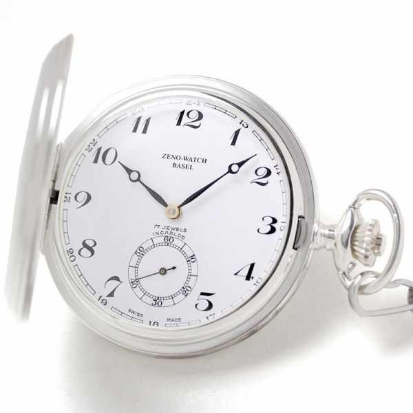 Klassik Taschenuhr Handaufzug, Silber Numbers_20967