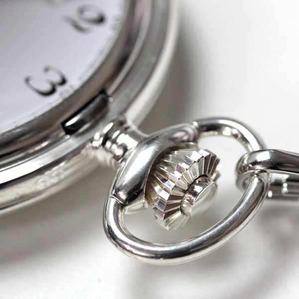 Klassik Taschenuhr Handaufzug, Silber Numbers_20968