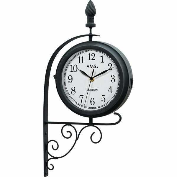 AMS London Station Style Garden Clock, drehbare Bahnhofsuhr_21056