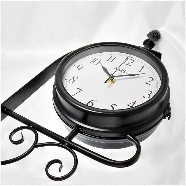 AMS London Station Style Garden Clock, drehbare Bahnhofsuhr_21059