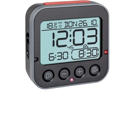 TFA Bingo 2.0 Nachtlicht, Funkwecker Thermometer + 2 Alarme_21069