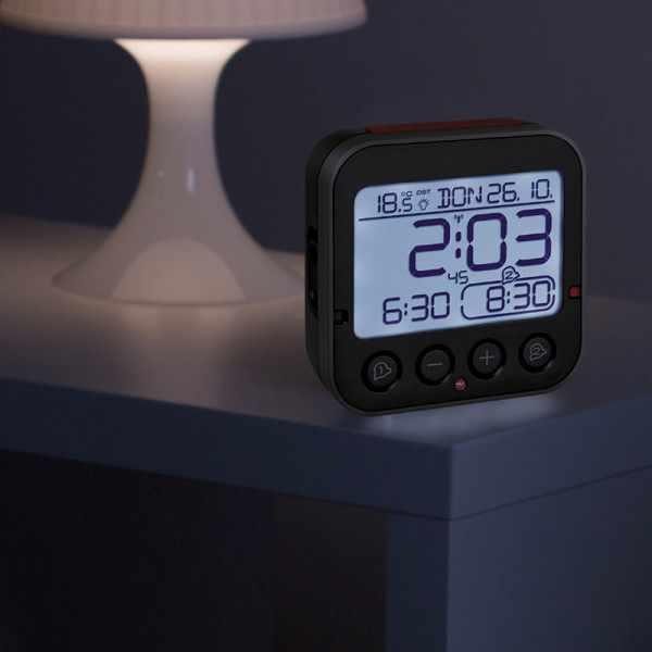TFA Bingo 2.0 Nachtlicht, Funkwecker Thermometer + 2 Alarme_21070