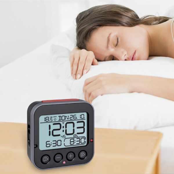 TFA Bingo 2.0 Nachtlicht, Funkwecker Thermometer + 2 Alarme_21071