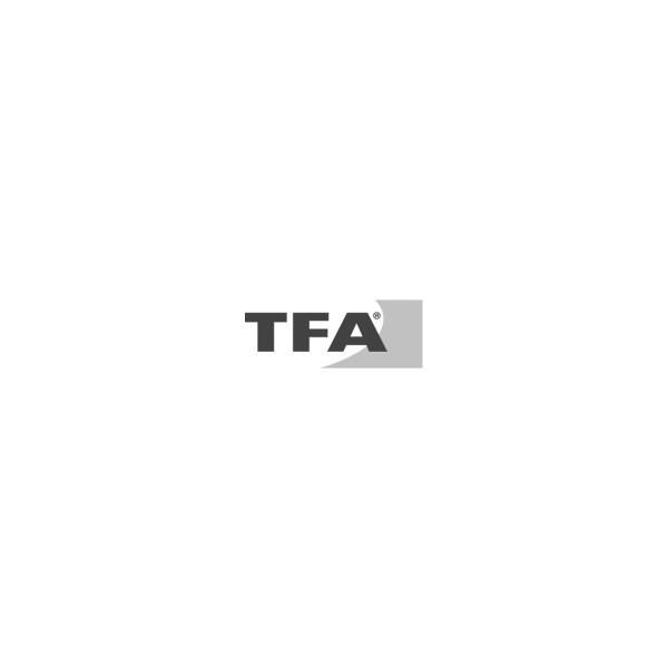 TFA Sprechender Funk-Wecker, LCD Tischuhr schwarz_21091