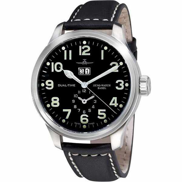 ZENO-WATCH BASEL, Pilot Oversized, XL DualTime Big Date_21147