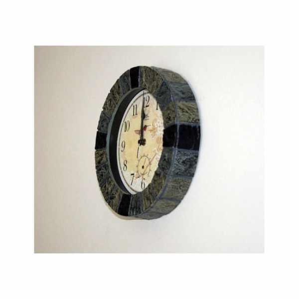 AMS Aussenuhr mit Thermometer, Funkwanduhr farbig_21195