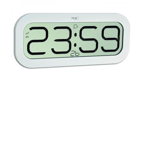 Funk Uhr Wanduhr Tischuhr Funkuhr mit Stundenschlag LCD Display TFA Bim Bam