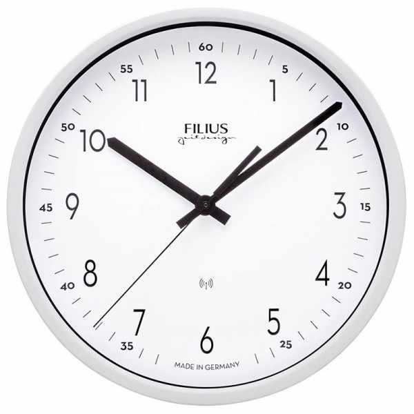 FILIUS Zeitdesign Funk-Wanduhr weiss_21280