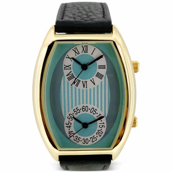 FASHION Dual Time, Zweizeitenuhr vergoldet LB_21285