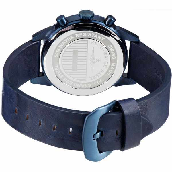 ZENO-WATCH BASEL, Vintage Line Chronograph, Quartzuhr blau_21314