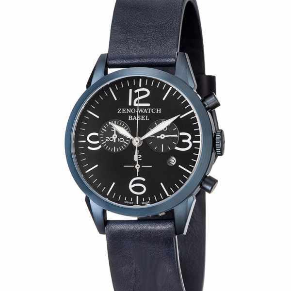 ZENO-WATCH BASEL, Vintage Line Chronograph, Quartzuhr blau_21315
