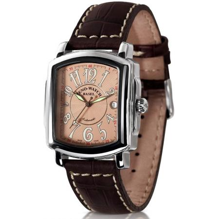 ZENO-WATCH BASEL, Retro Rectangular Automatic, Art-Déco Uhr, rosé_21346