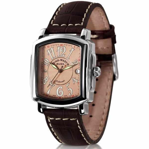 ZENO-WATCH BASEL, Retro Rectangular Automatic, Art-Déco Uhr, rosé_21346