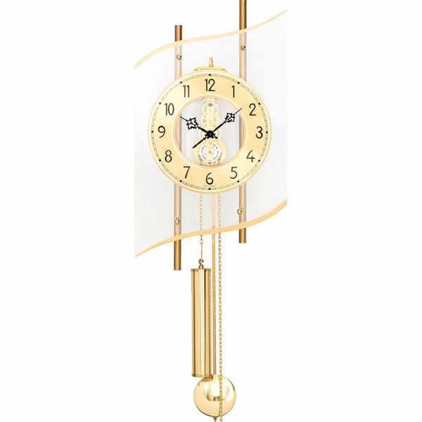 AMS Skelett Pendeluhr, 8 Tage Uhrwerk, gold_21381