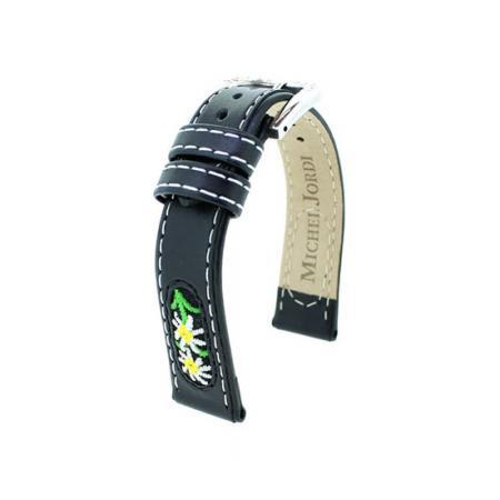 MICHEL JORDI Uhrenband Leder 13mm, schwarz_21413