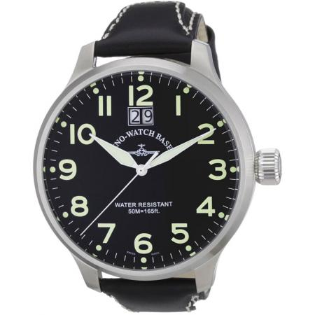 ZENO-WATCH BASEL, Pilot Super Oversized Q, Fliegeruhr, schwarz
