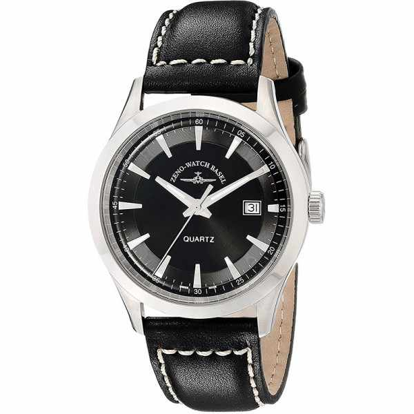 ZENO-WATCH BASEL, Retro Gentlemen, Quartz Uhr, schwarz_21572