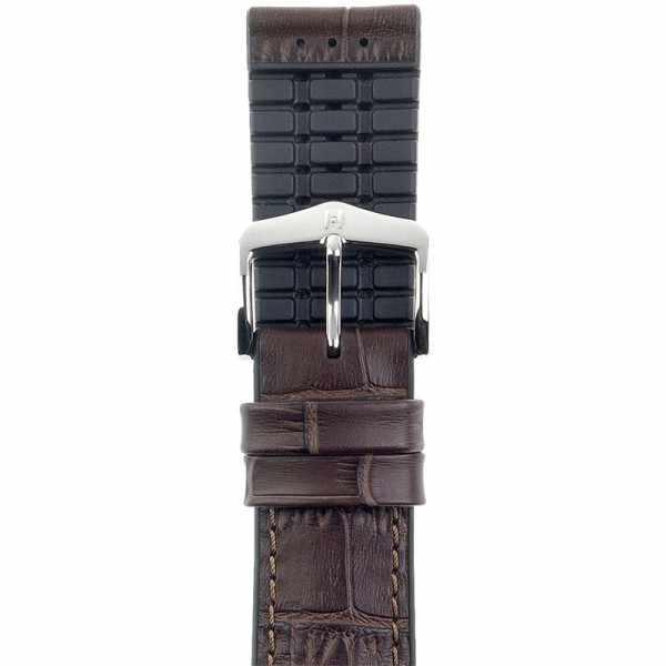 HIRSCH Uhrenband Leder+Kautschuk Paul 22mm, dunkelbraun_21693