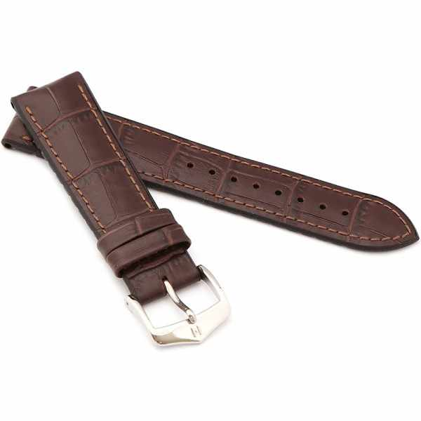 HIRSCH Uhrenband Leder+Kautschuk Paul 22mm, dunkelbraun_21695