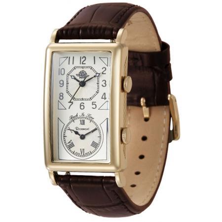 ROSEMONT Nostalgia Dual Time Uhren, Back in Time, vergoldet_21740