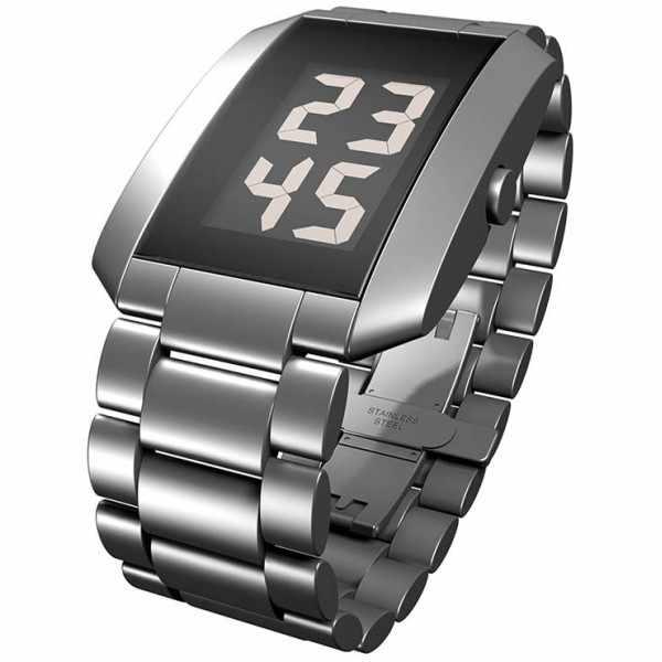 FLEMMING BO HANSEN, LCD Digitaluhr, Watch III, Edelstahl_21810