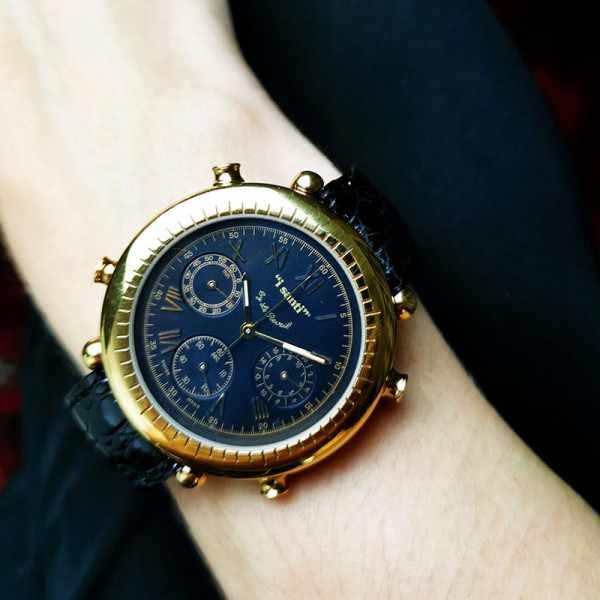 I SANTI, Chronograph Quartzuhr mit Lederband_21878