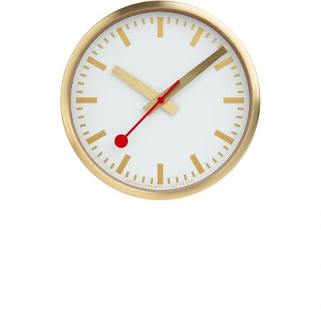 MONDAINE Wall Clock Pure Quartz Wanduhr gold_22167