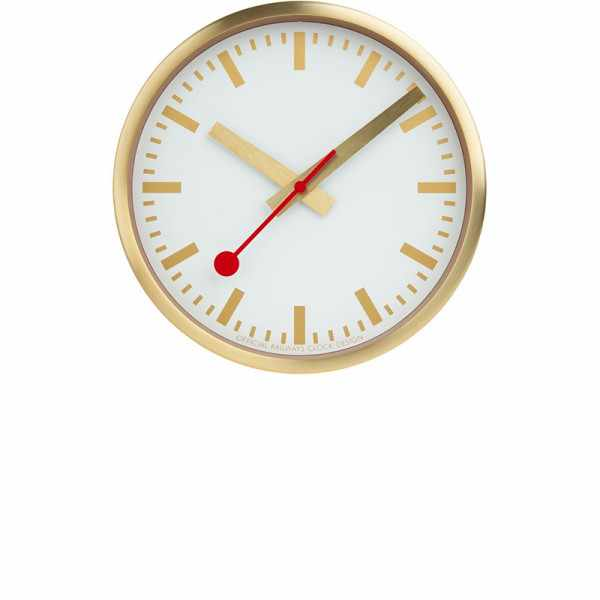 MONDAINE Wall Clock Pure Quartz Wanduhr gold_22167