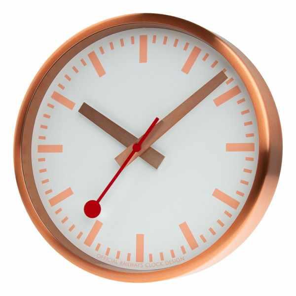 MONDAINE Wall Clock Pure Quartz Wanduhr kupfer_22193