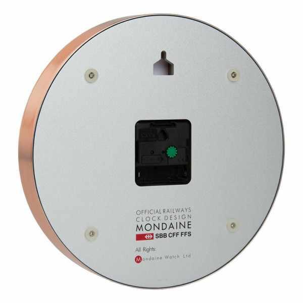 MONDAINE Wall Clock Pure Quartz Wanduhr kupfer_22195