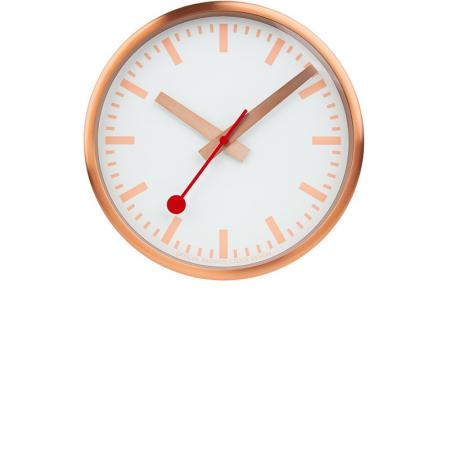 MONDAINE Wall Clock Pure Quartz Wanduhr kupfer