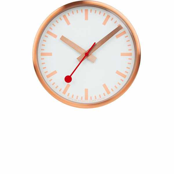 MONDAINE Wall Clock Pure Quartz Wanduhr kupfer_22196