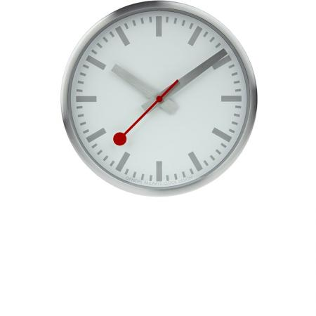 MONDAINE Wall Clock Pure Quartz Wanduhr silber_22215