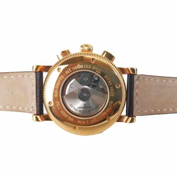 ZENO-WATCH BASEL, Nostalgia Chronograph, Tag und Datum vergoldet_22485