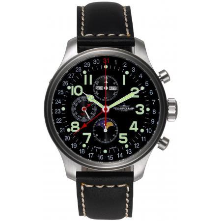 ZENO-WATCH BASEL, Pilot Oversized, XL Fliegerchronograph Vollkalender_22570