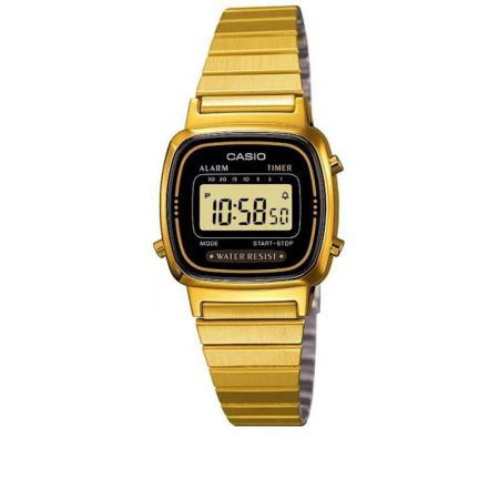 CASIO Retro LCD, WEGA LADY, Digitaluhr gold schwarz_22670