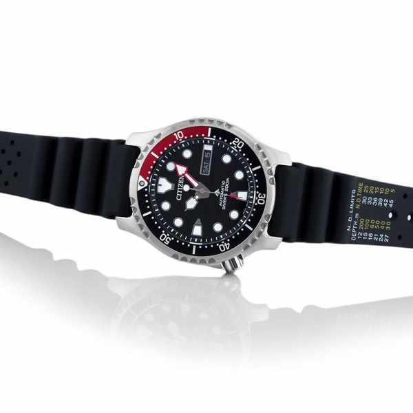 CITIZEN Promaster Sea, Diver Automatik Taucheruhr Edelstahl, schwarz-rot_22862
