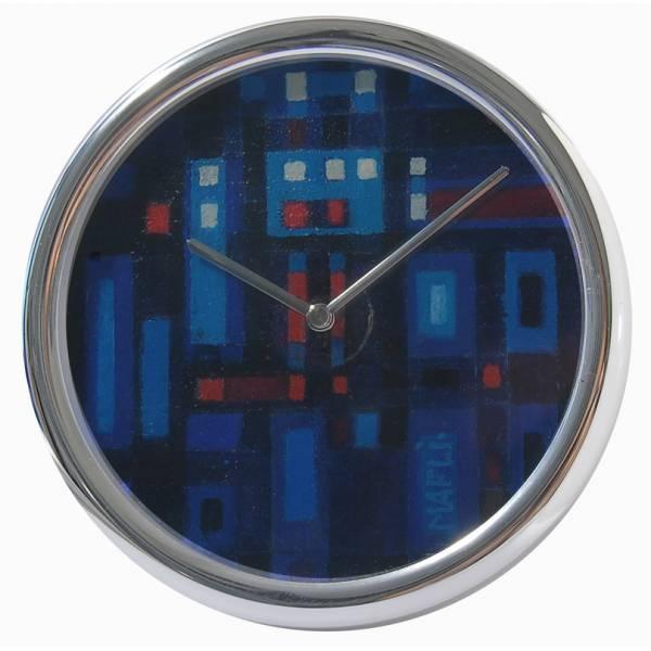 JEAN ROULET, Art et Temps, Walter Mafli, Tischuhr Quartz, blau_2290