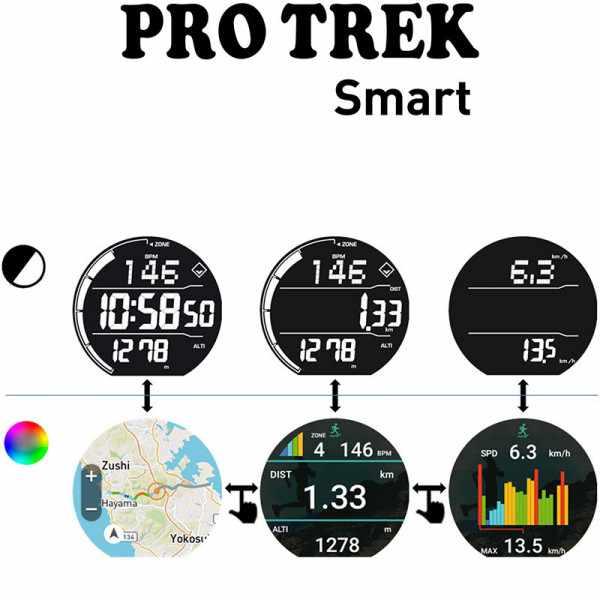 CASIO Pro Trek Smart GPS Outdooruhr mit Smartphone Link_23282