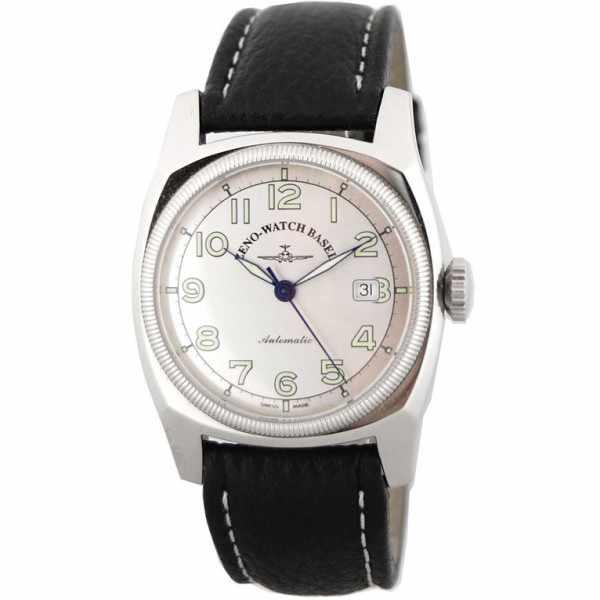 ZENO-WATCH BASEL, Retro Carré, Automatik Uhr, silbergrau_2348