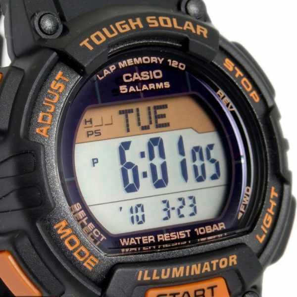 CASIO Solar LCD Illuminator Sportuhr klein, schwarz-orange_2367